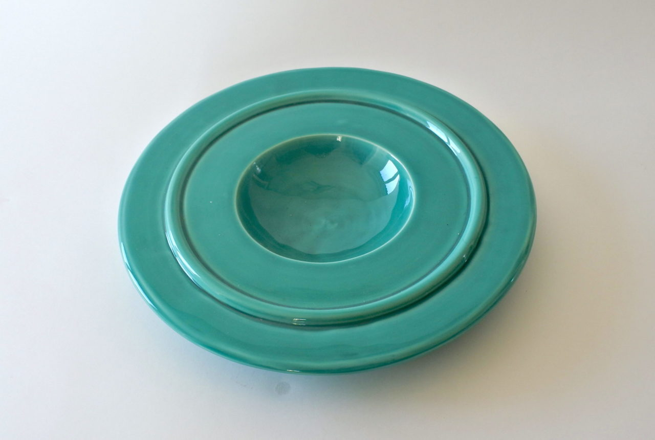 Centro tavola in ceramica - Ettore Sottsass per ceramiche Bitossi