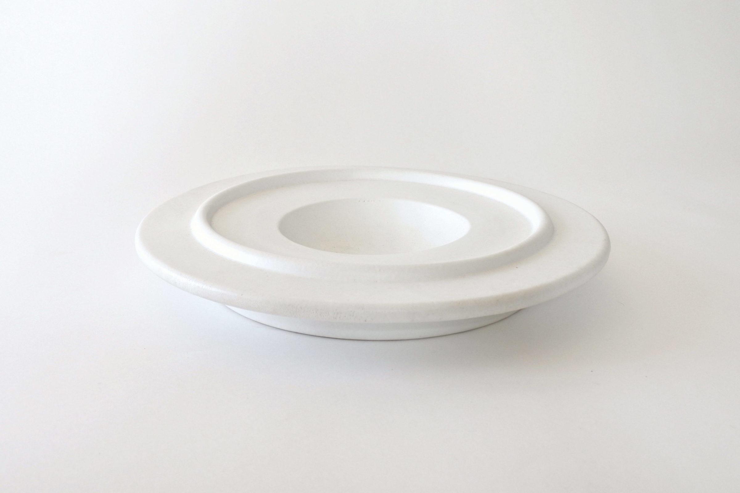 Centro tavola in ceramica bianca - Ettore Sottsass per ceramiche Bitossi - 2