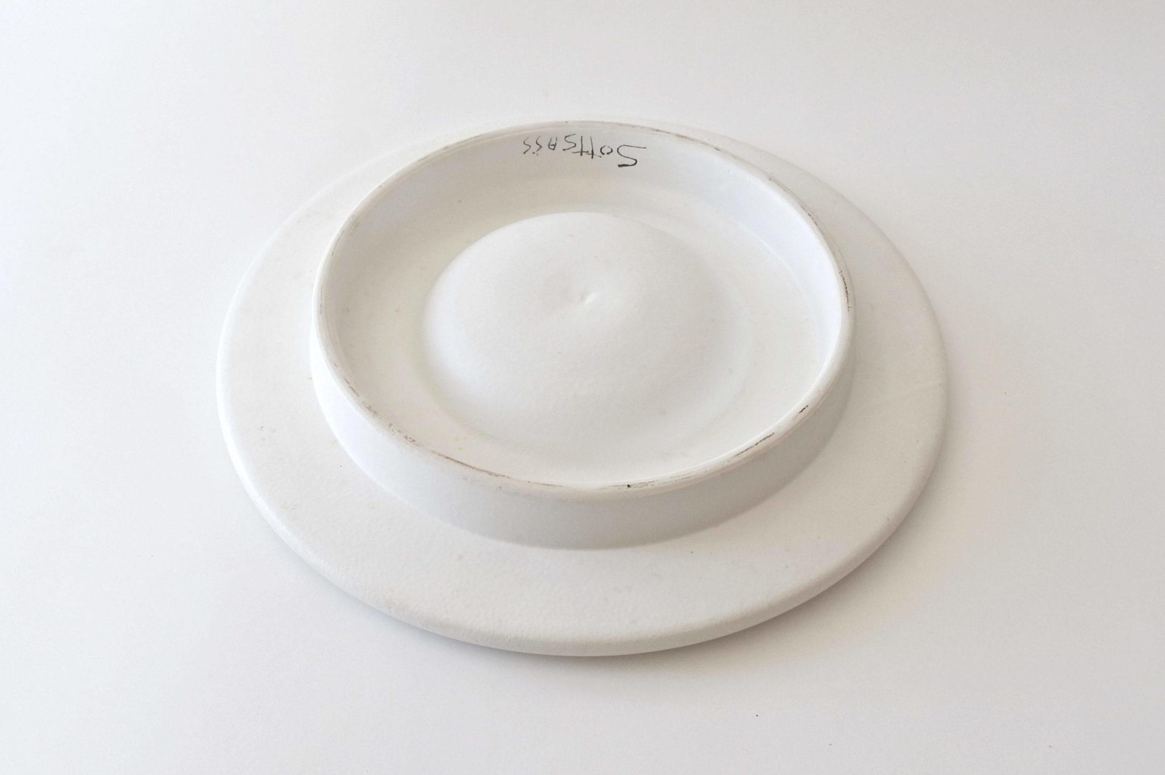 Centro tavola in ceramica bianca - Ettore Sottsass per ceramiche Bitossi - 3