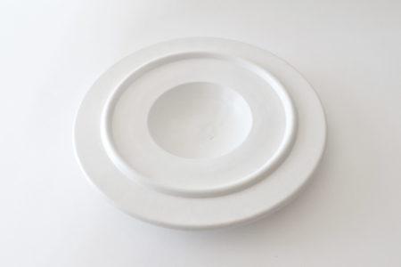 Centro tavola in ceramica bianca - Ettore Sottsass per ceramiche Bitossi