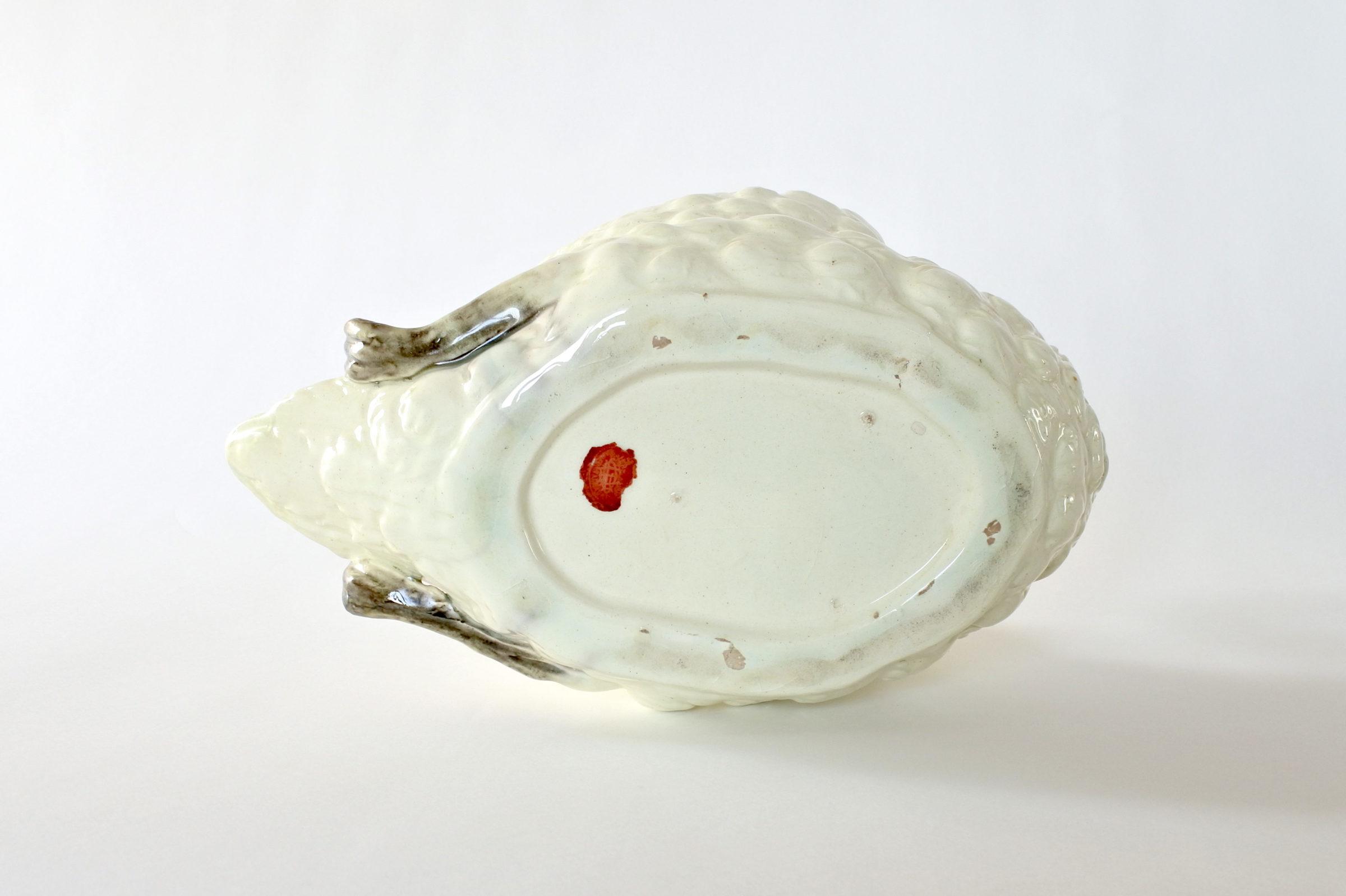 Cigno in ceramica barbotine con funzione di jardinière - Jérôme Massier Fils - 8