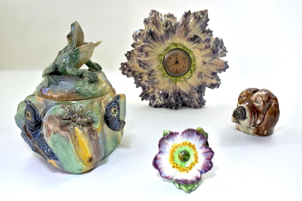 Oggetti vari in ceramica barbotine antichi e di antiquariato
