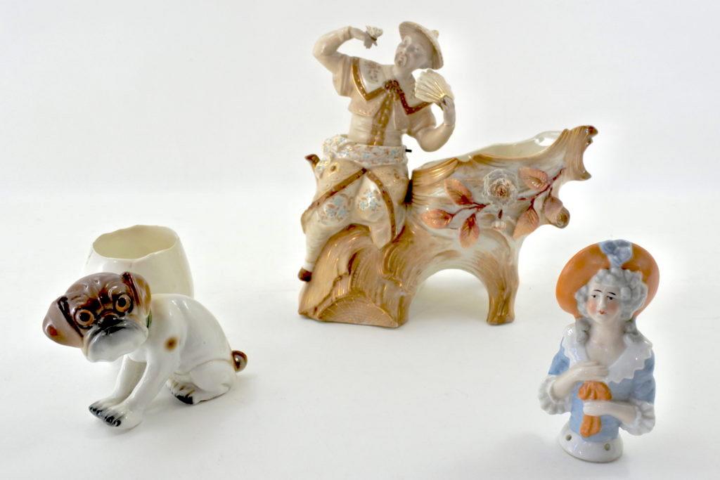 Statuine in ceramica e porcellana antiche di antiquariato e da collezione