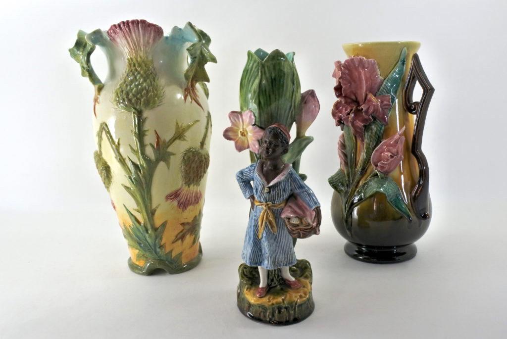 Vasi in ceramica barbotine del XIX° ed inizi del XX° secolo