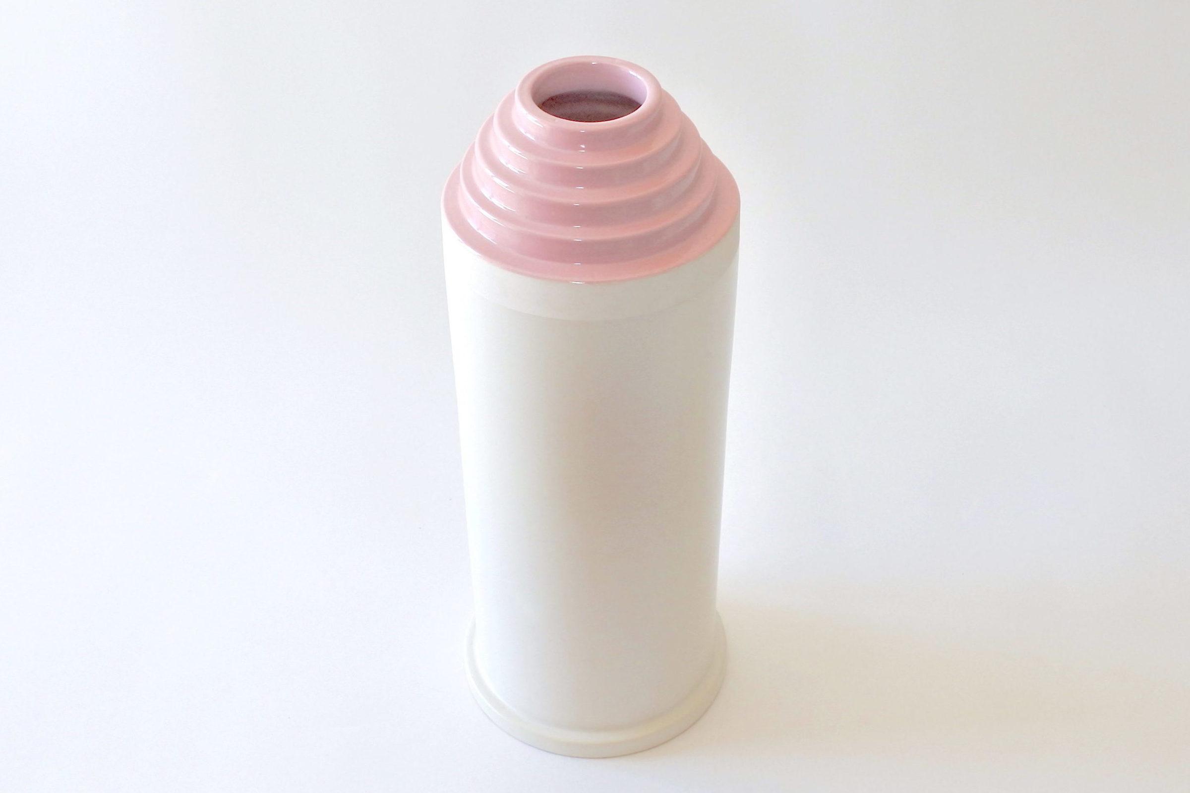 Vaso Bolo in ceramica bianca - Ettore Sottsass per ceramiche Bitossi - 2