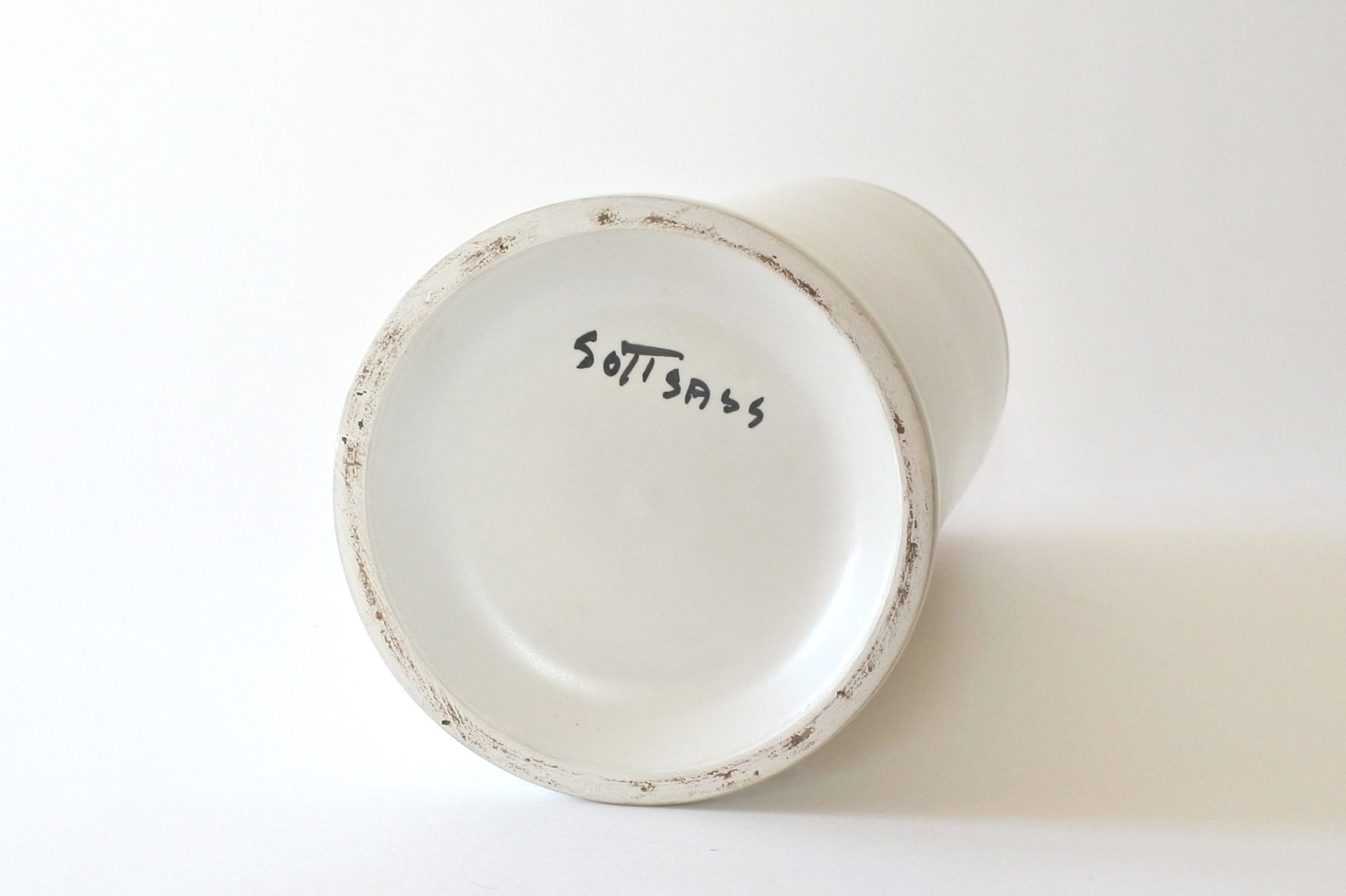 Vaso Bolo in ceramica bianca - Ettore Sottsass per ceramiche Bitossi - 3