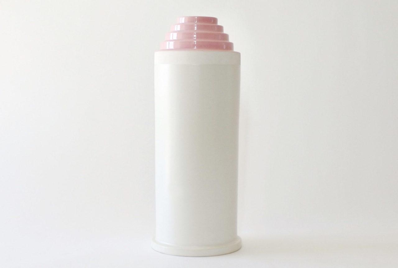 Vaso Bolo in ceramica bianca - Ettore Sottsass per ceramiche Bitossi