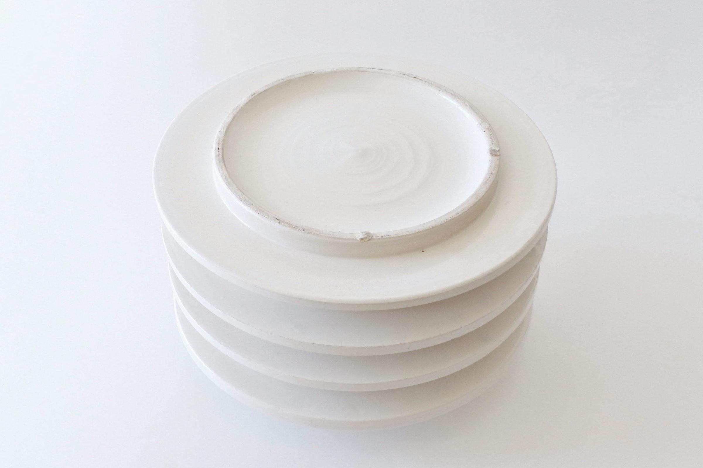 Vaso isolatore in ceramica bianca - E. Sottsass per ceramiche Bitossi - 3