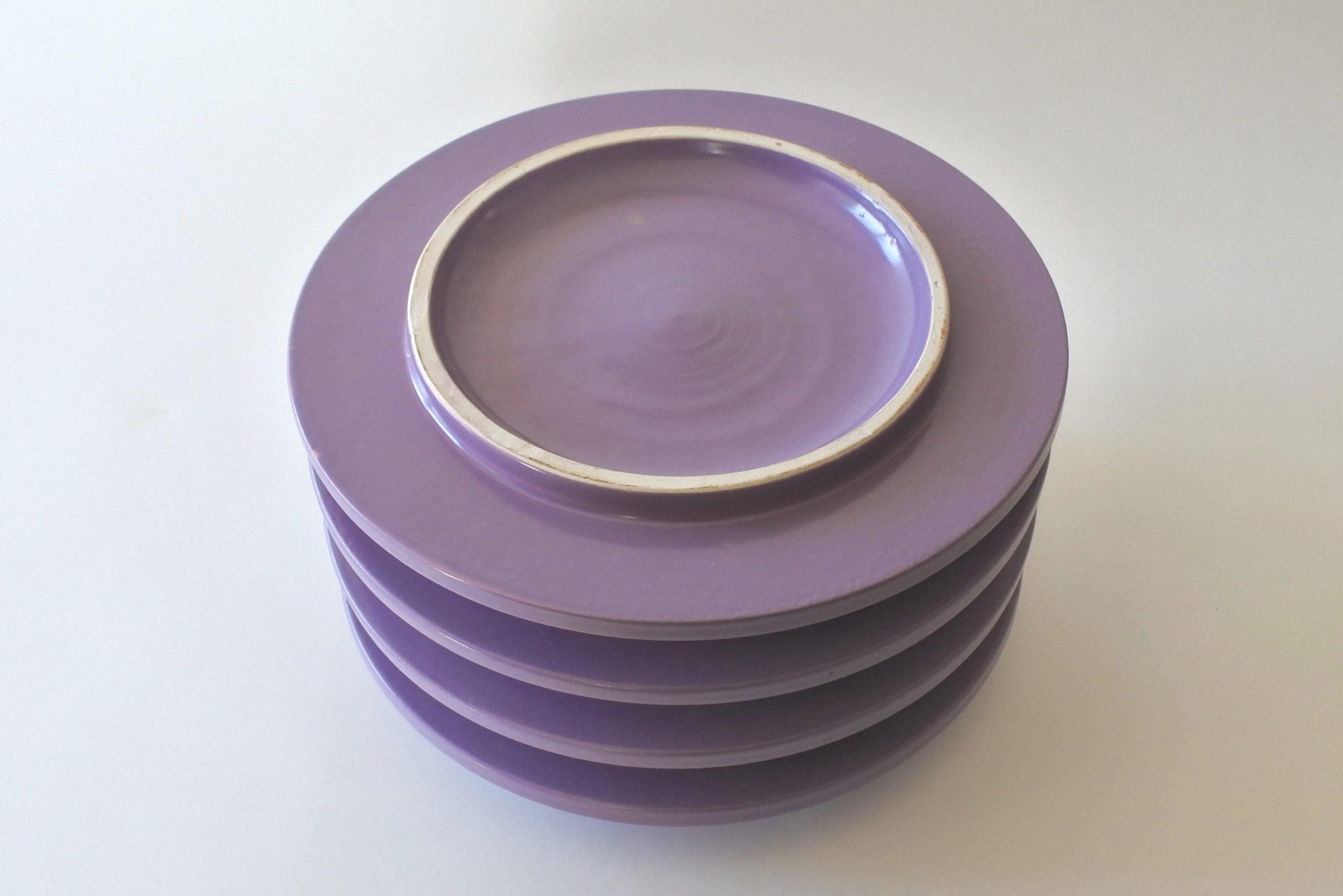 Vaso isolatore in ceramica viola - E. Sottsass per ceramiche Bitossi - 3