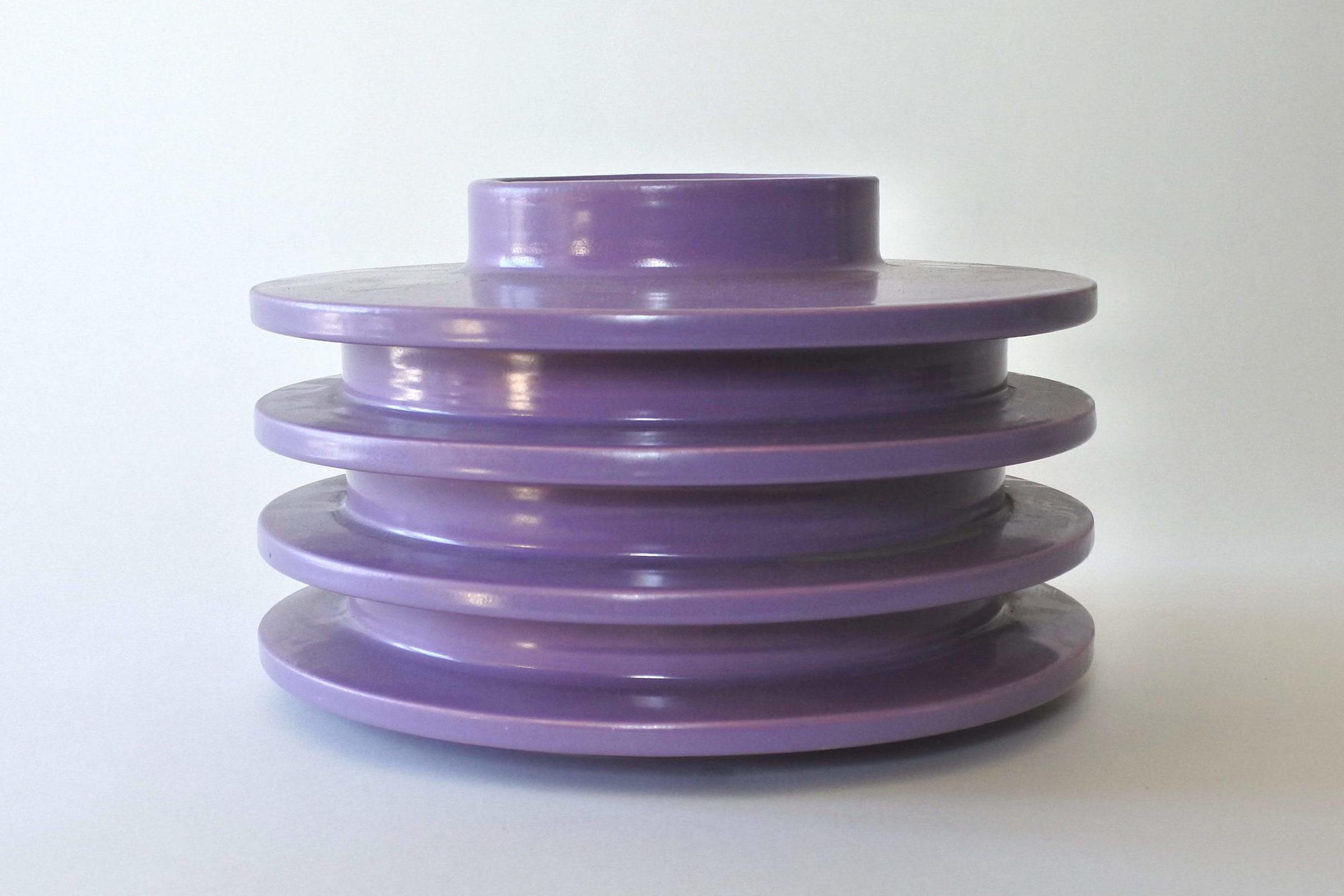 Vaso isolatore in ceramica viola - E. Sottsass per ceramiche Bitossi