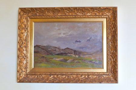 Quadro dipinto ad olio con paesaggio montano di Roda Leonardo