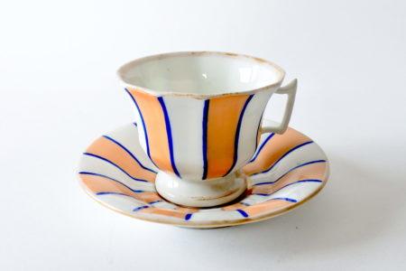 Tazzina da caffè antica in porcellana Vecchia Parigi - Vieux Paris