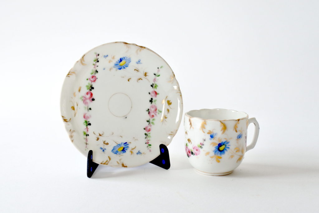 Tazzine antiche da caffè in porcellana Vecchia Parigi - 10