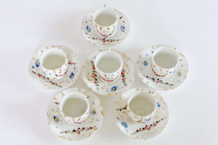 Tazzine antiche da caffè in porcellana Vecchia Parigi