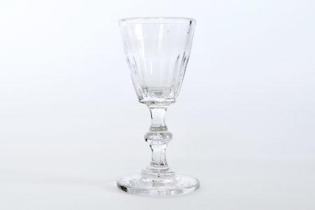 Bicchierino da liquore a calice in vetro soffiato trasparente
