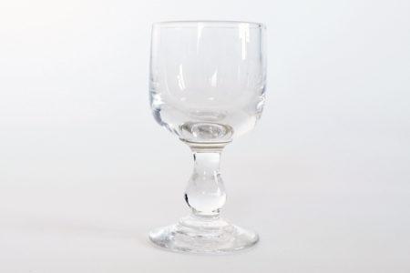 Bicchierino da liquore a calice in vetro soffiato trasparente liscio