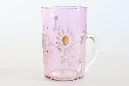 Bicchierino da liquore con manico in vetro soffiato lilla