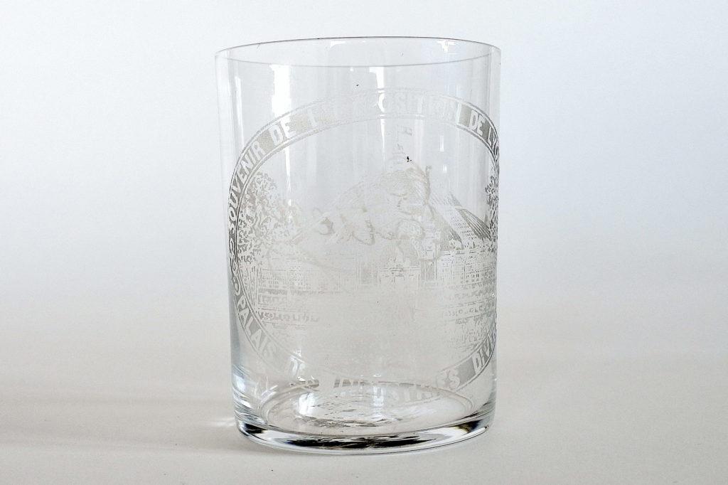 Bicchiere pubblicitario in vetro soffiato trasparente