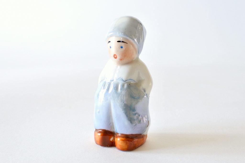 Saliera in ceramica a forma di olandesino