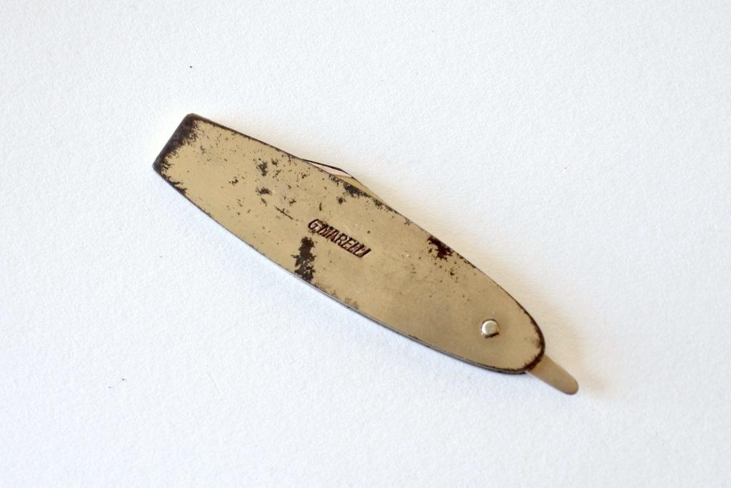 Tagliacarte pubblicitario pieghevole e tascabile - G.Marelli