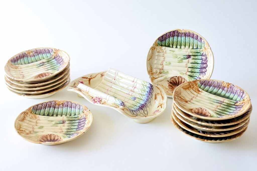 Servizio di piatti per asparagi Onnaing in ceramica barbotine