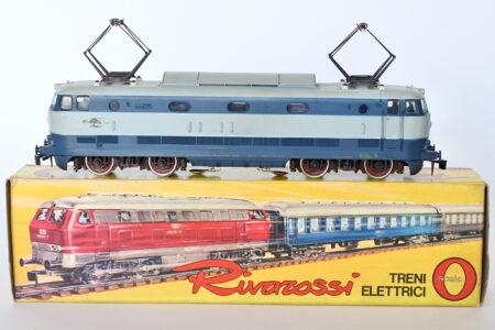Locomotiva elettrica Rivarossi tartaruga E 444 015 FS scala 0 con scatola