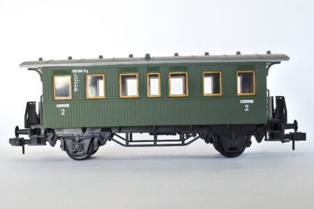 Carrozza passeggeri di 2a classe Marklin 5801 scala 1 della DB