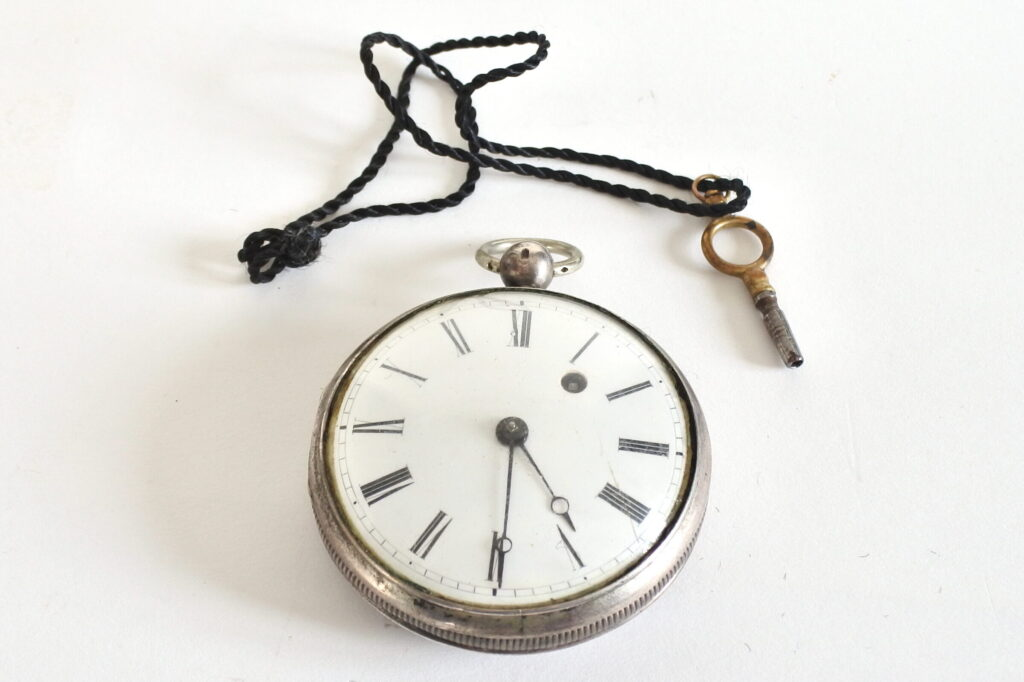 Orologio da tasca a ribaltina con cassa in argento Antoine Achard Geneve