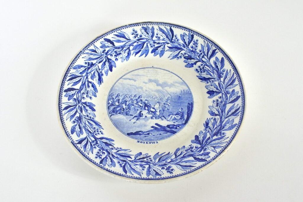 Piatto in porcellana con decoro Napoleonico - Creil et Montereau