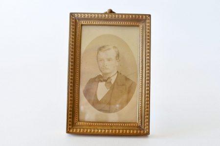 Cornice portafoto in bronzo dorato